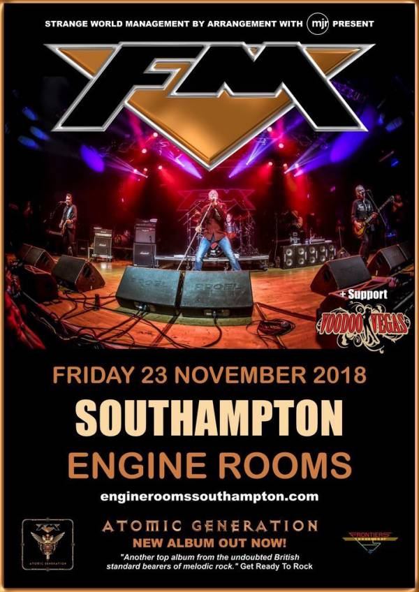 image for Voodoo Vegas Confirmed to Support FM in Southampton